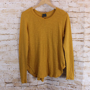 Left of Center Anthropologie Top Womens Mustard